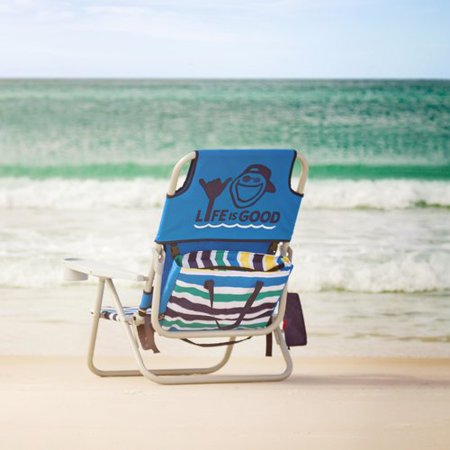 Astonishing Lifeisgood Life Is Good Reclining Beach Chair Pabps2019 Chair Design Images Pabps2019Com
