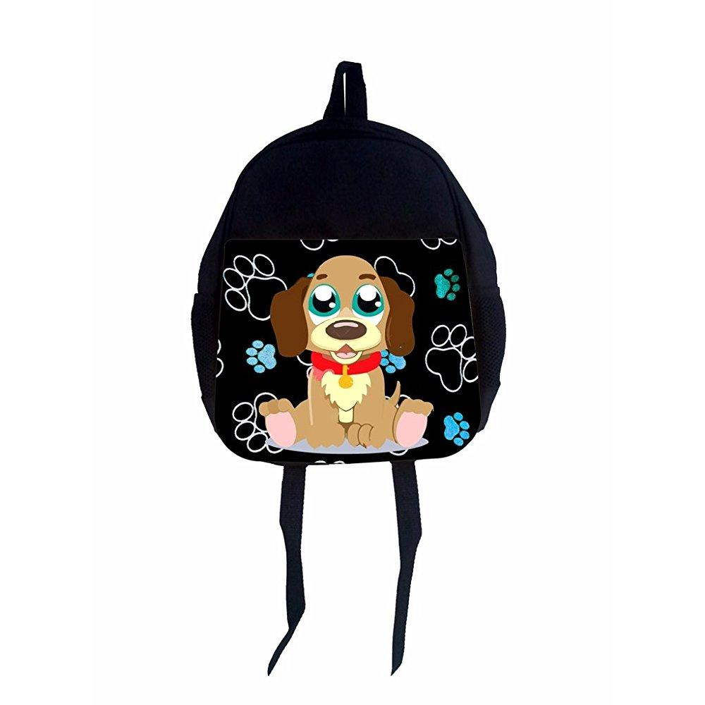 max wilder preschool backpack, beagle puppy on blue pawpr...