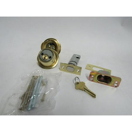 Schlage Keyway Series B500 Grade 2 Deadbolt Lock Double Cylinder in Bright (Polished Brass B500 Series)