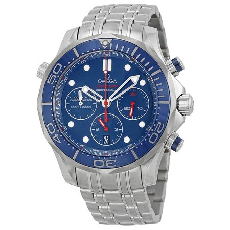 Omega Seamaster 300 Diver Blue Dial Mens Watch 212.30.44.50.03.001