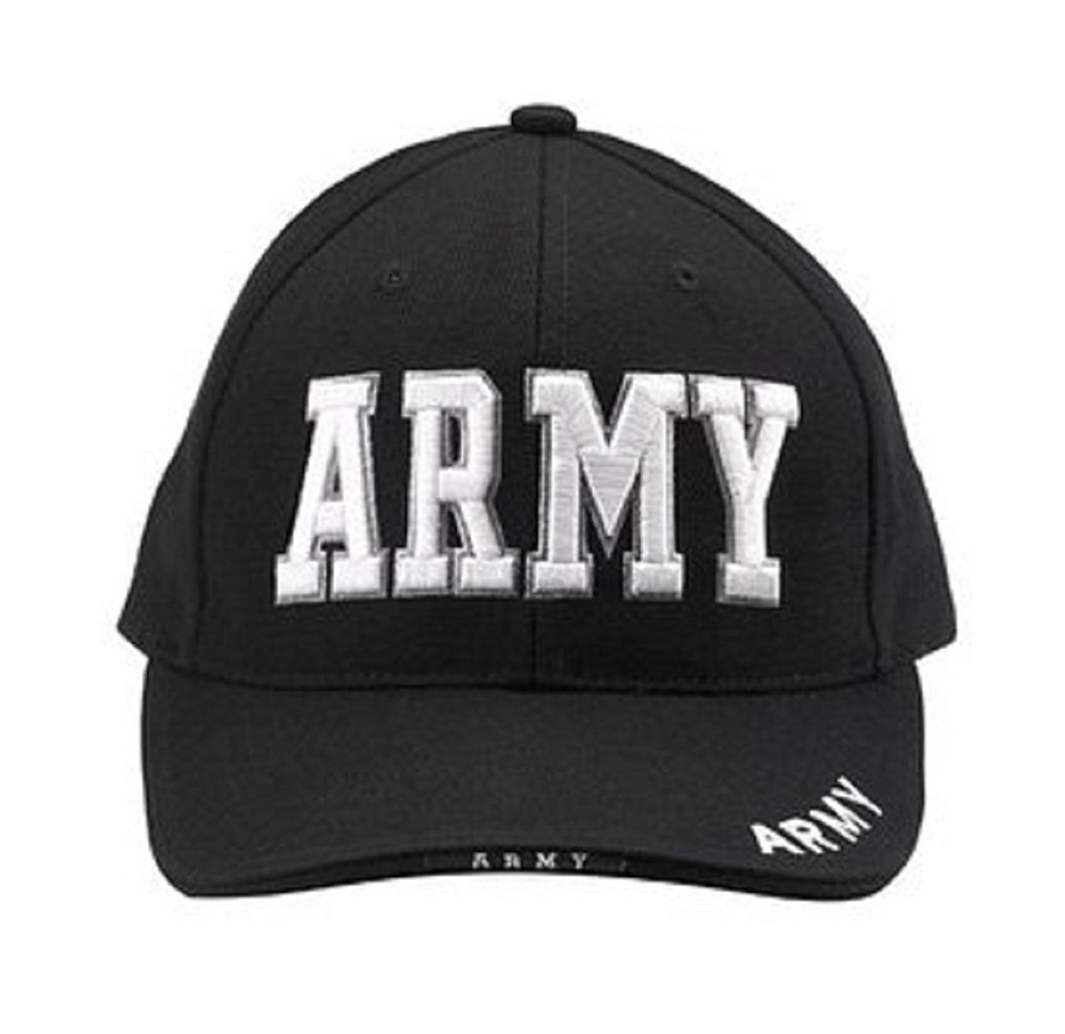 Rothco Deluxe Army Embroidered Low Profile Insignia Cap - Black 16575ec5248f