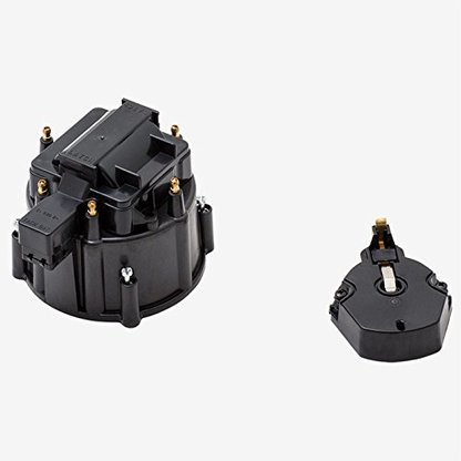 A-Team Performance CR6BK HEI OEM Distributor Cap, Rotor and, Coil Cover Kit Black 6 Cylinder