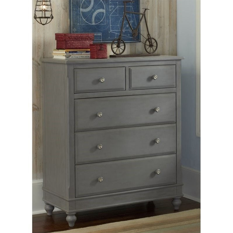 NE Kids Lake House 5 Drawer Chest in White by Overstock
