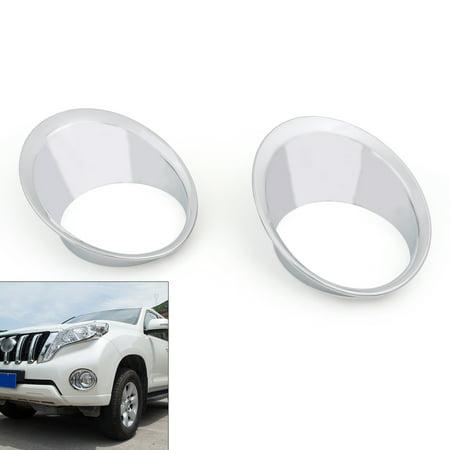 Chrome Fog Light Trim - Areyourshop Chrome Front Fog Light Trim Cover Frame For Toyota Prado FJ150 2014-2016 2015