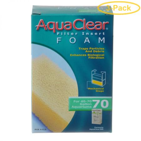 Aquaclear Filter Insert Foam For Aquaclear 70 Power Filter - Pack of 3