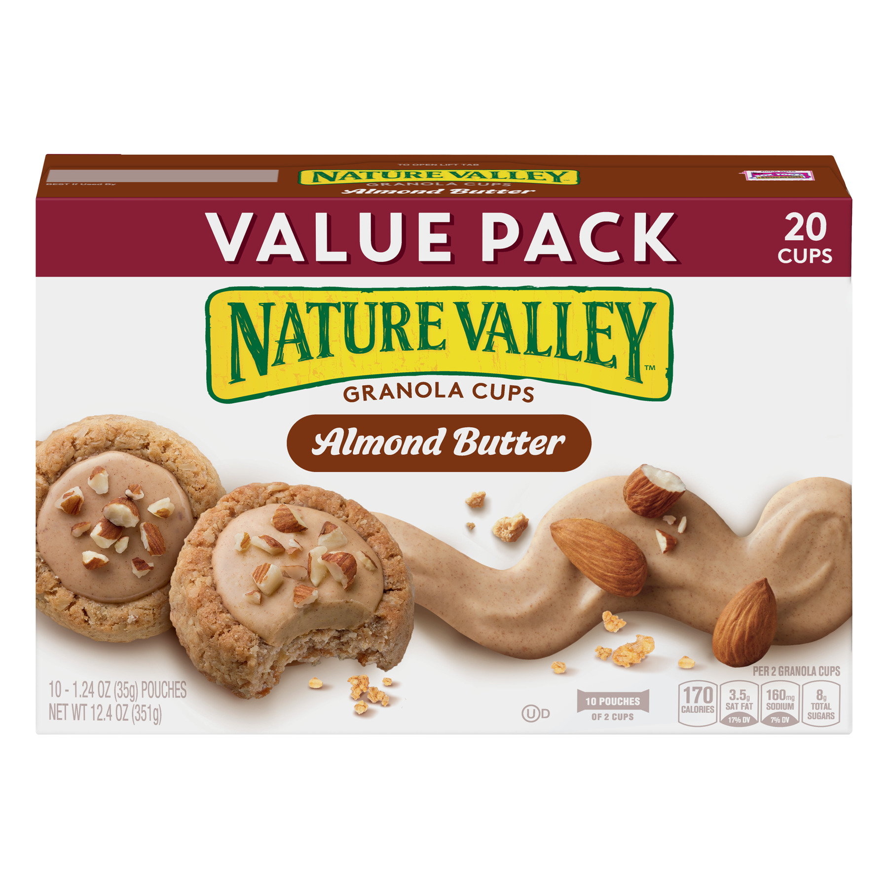 Nature Valley Almond Butter Granola Cups, 12.4 oz, 1.24 OZ