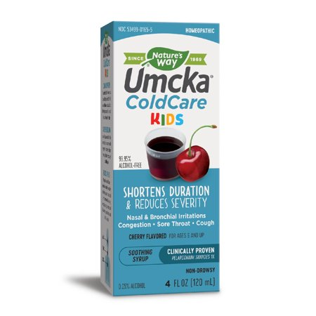 Natures Way Childrens Umcka Cold Care Syrup Cherry 4 Fl