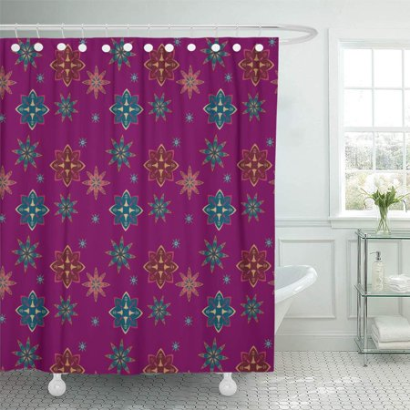 Pknmt Abstract Pattern With Details Mandala On Purple Drawn Floral