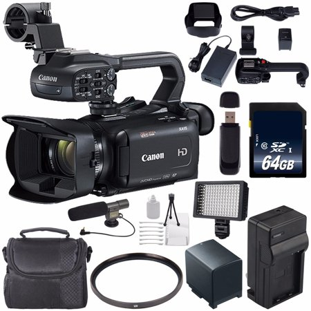 Canon XA11 Compact Full HD ENG Camcorder #2218C002 (International Model) + 64GB SDXC Class 10 Memory Card + BP-820 Replacement Lithium Ion Battery + External Rapid Charger -