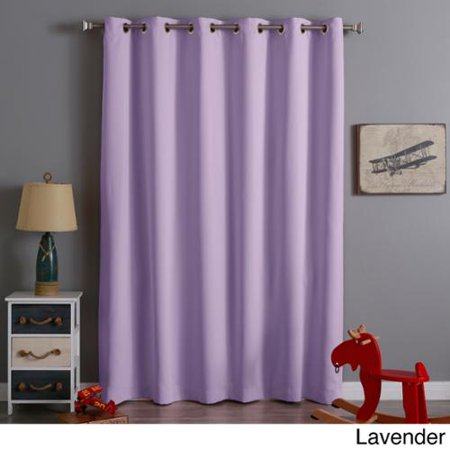 Extra Wide Thermal Insulated 84 Inch Blackout Curtain Panel Lavender