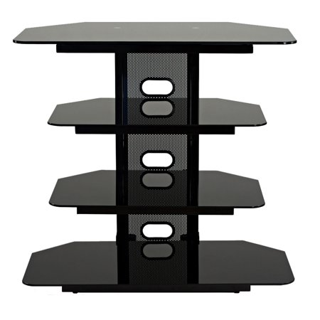 TransDeco Corner TV Stand Multifunctional AV Shelves for Up to 35-Inch Plasma/LCD/LED