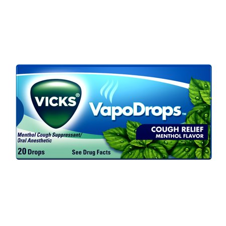 Vicks Vapodrops Cough Relief Menthol Flavored Drops, 20
