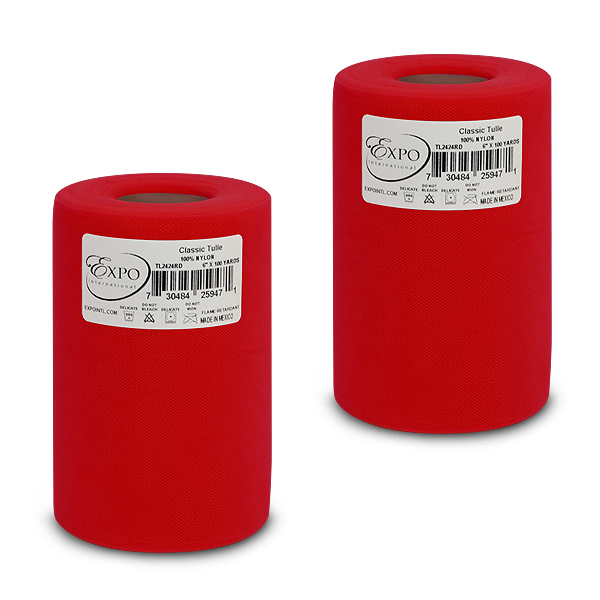 """Expo Int'l Pack of 2 Classic 6"""" Tulle Spool of 100 Yards"""