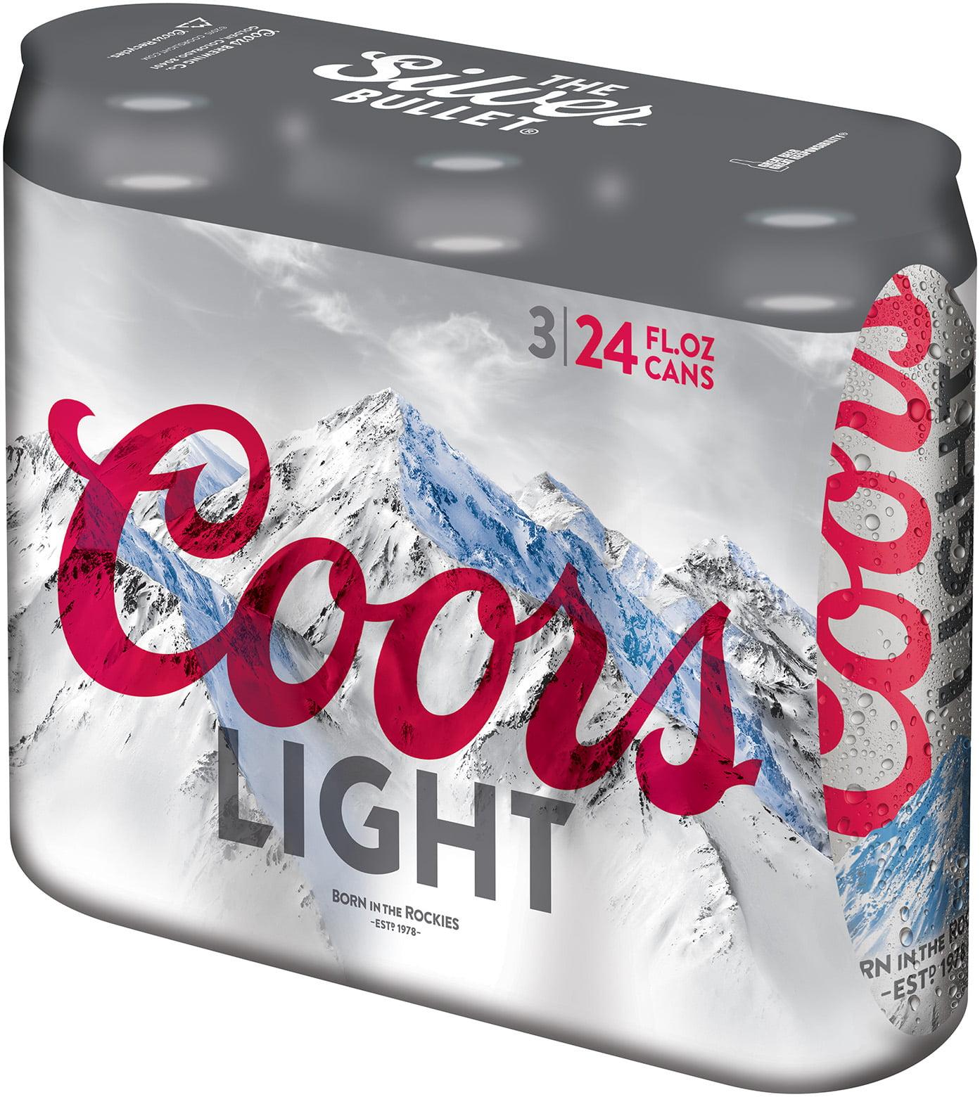 Coors Light Lager Beer, 24 Pack, 12 Fl. Oz. Cans, 4.2% ABV   Walmart.com