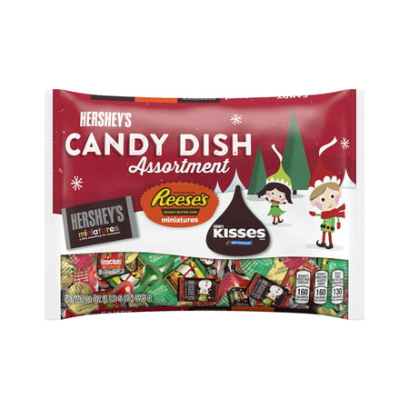 hershey holiday chocolate candy dish assortment 21 oz