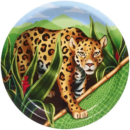 Jungle Party Dinner Plates, 8-Pack