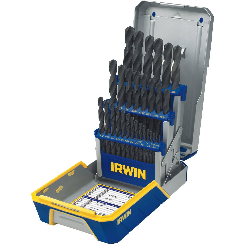 Irwin 29-Piece Black Oxide Metal Index Drill Bit Set
