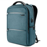 Inateck Laptop Backpack with USB Charging Port Fits Up to 15.6 Inch Laptop, Blue