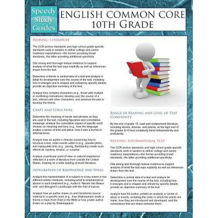 English Common Core 10th Grade (Speedy Study Guides)
