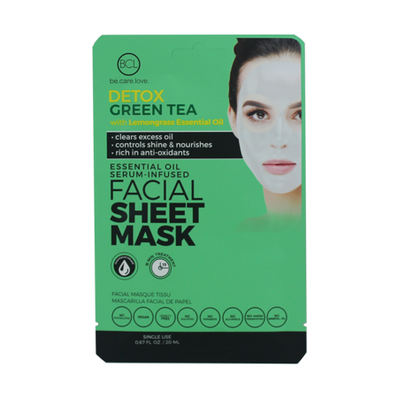 2 Of Bio Creative Lab - Essential Oil Facial Sheet Mask Green Tea](Dark Lab)