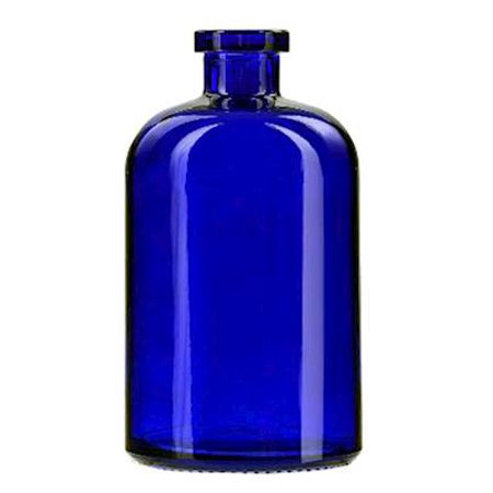 COBALT BLUE 13.5 Ounce Apothecary Glass Vase  - Courtneys Candles