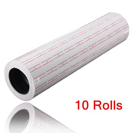 10 Rolls White Price Pricing Label Paper Tag Tagging For Mx-5500 Labeller - Price Gun Labels
