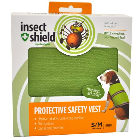 Insect Shield Protective Safety Vest Small/Medium, Green