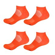 Men's Medium/Large Rayon from Bamboo Fiber Colored Sports Superior Wicking Athletic Ankle Socks - Orange - 4prs, Size 6-10