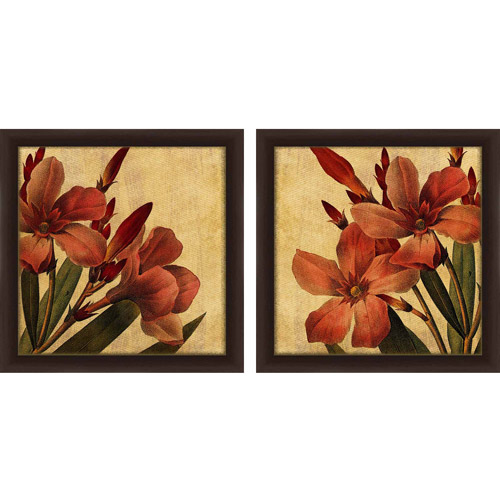 Neutral Wall Art neutral toned floral wall art, set of 2 - walmart