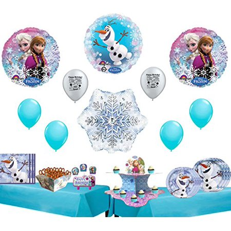Disney Frozen Olaf Ultimate Birthday Party Supplies and Balloon Decoration Kit - Olaf Birthday