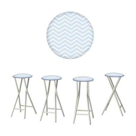 Best of Times Boy Baby Shower Outdoor Bar Stools - Set of 4 ()