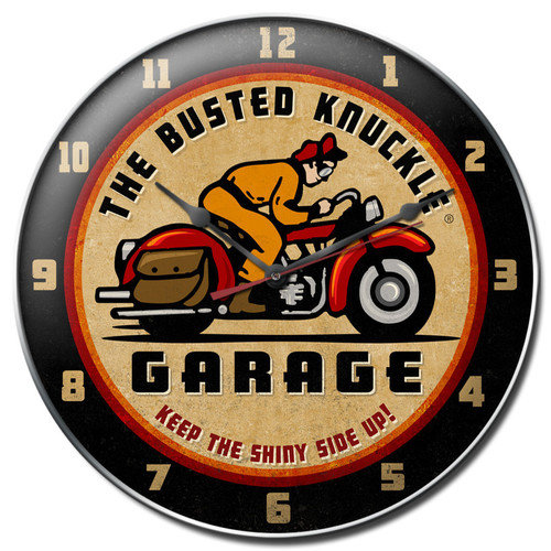 Almost There 14'' Busted Knuckle Garage Wall Clock
