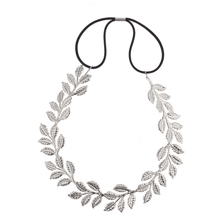 Lux Accessories Silver tone Casted Leaves Vines Leaf Hair Crown Headwrap](Hair Vine)