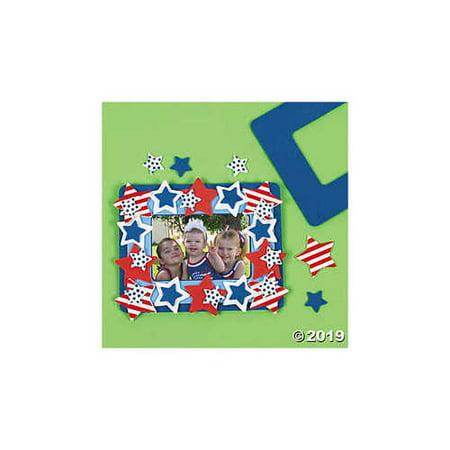 Patriotic Photo Frame Magnet Foam Craft Kit