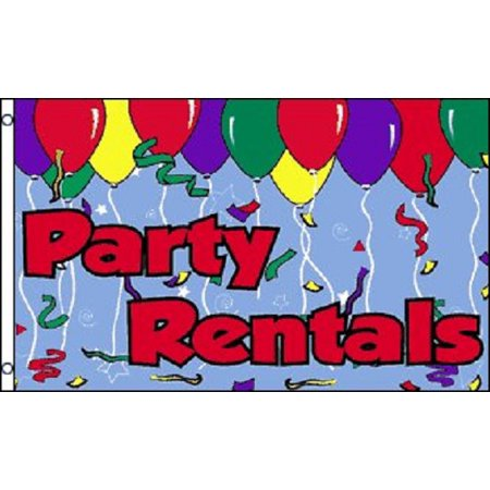 PARTY RENTALS Flag Store Sign Business Banner Rent Advertising Pennant New - Big Top Party Rentals