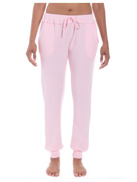 Product Image Noble Mount Women s Cozy Rib Knit Jogger Style Lounge and  Sleep Pant 65cb6f3ca