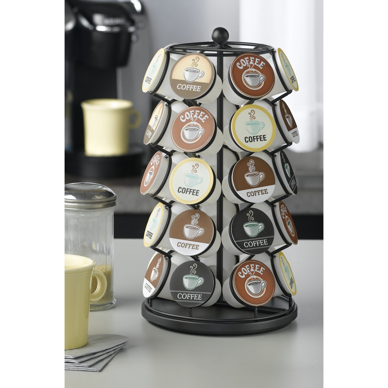 Nifty 35 Capacity Coffee Pod Carousel in Black