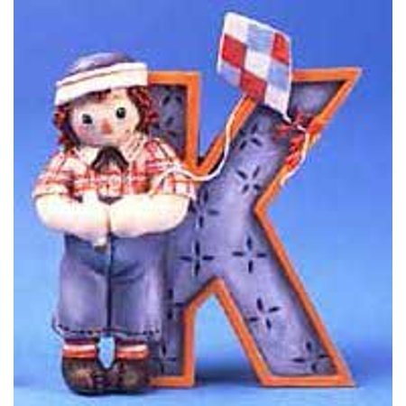 Raggedy Ann and Andy - K Is For Kite Decorative Letter, By Raggedy Ann Andy