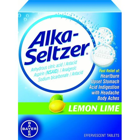 Alka-Seltzer ® Lemon Lime Effervescent Tablets 36 ct Box