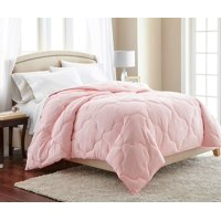 Chezmoi Collection Pink Quatrefoil Hypoallergenic Down Alternative Comforter - Queen