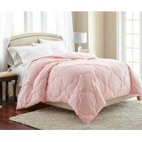 Chezmoi Collection Pink Quatrefoil Hypoallergenic Down Alternative Comforter - Queen