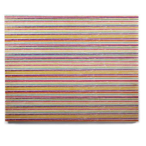 East Urban Home 'Summer Stripes' Graphic Art Print on Wood