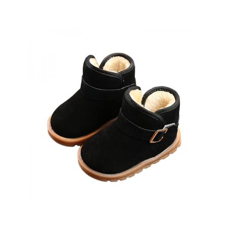 Toddler Baby Kids Boys Girls Winter Warm Soft Sole Crib Shoes Snow Boots (Sofft Winter Shoes)