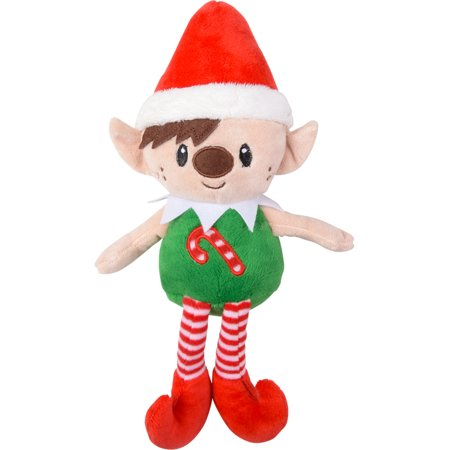 Red Hat Christmas Elf With Candy Cane Chest On Your Shelf Decoration - Elf On The Shelf Plush Toy
