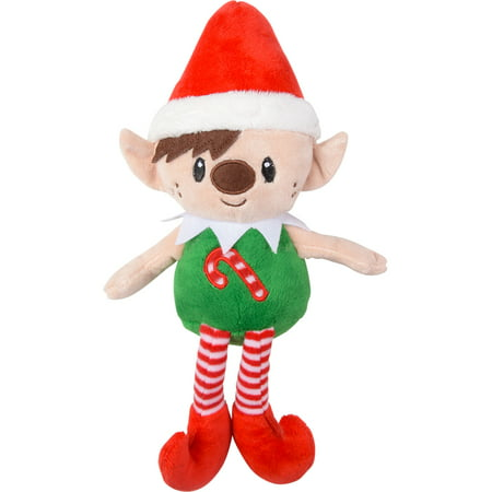 Red Hat Christmas Elf With Candy Cane Chest On Your Shelf Decoration](Candy Cane Elf)