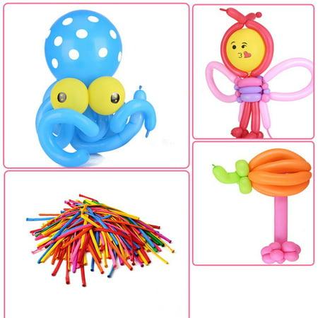 100x Mixed color Magic Long Animal Tying Making Balloons twist Latex Balloon - Anime Latex