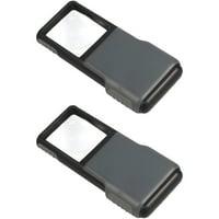2pk Carson PO-55 Minibrite Pocket Magnifier