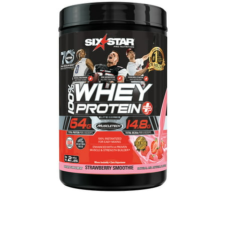 Six Star Pro Nutrition Elite Series 100% Whey Protein Powder, Strawberry, 20g Protein, 2 Lb ()
