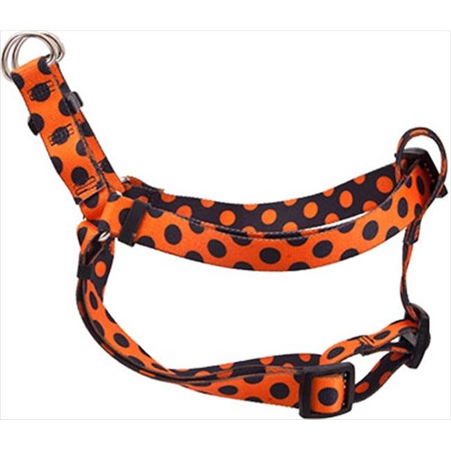 Yellow Dog Design SI-HPD103L Halloween Polka Dot Step-In Harness - Large
