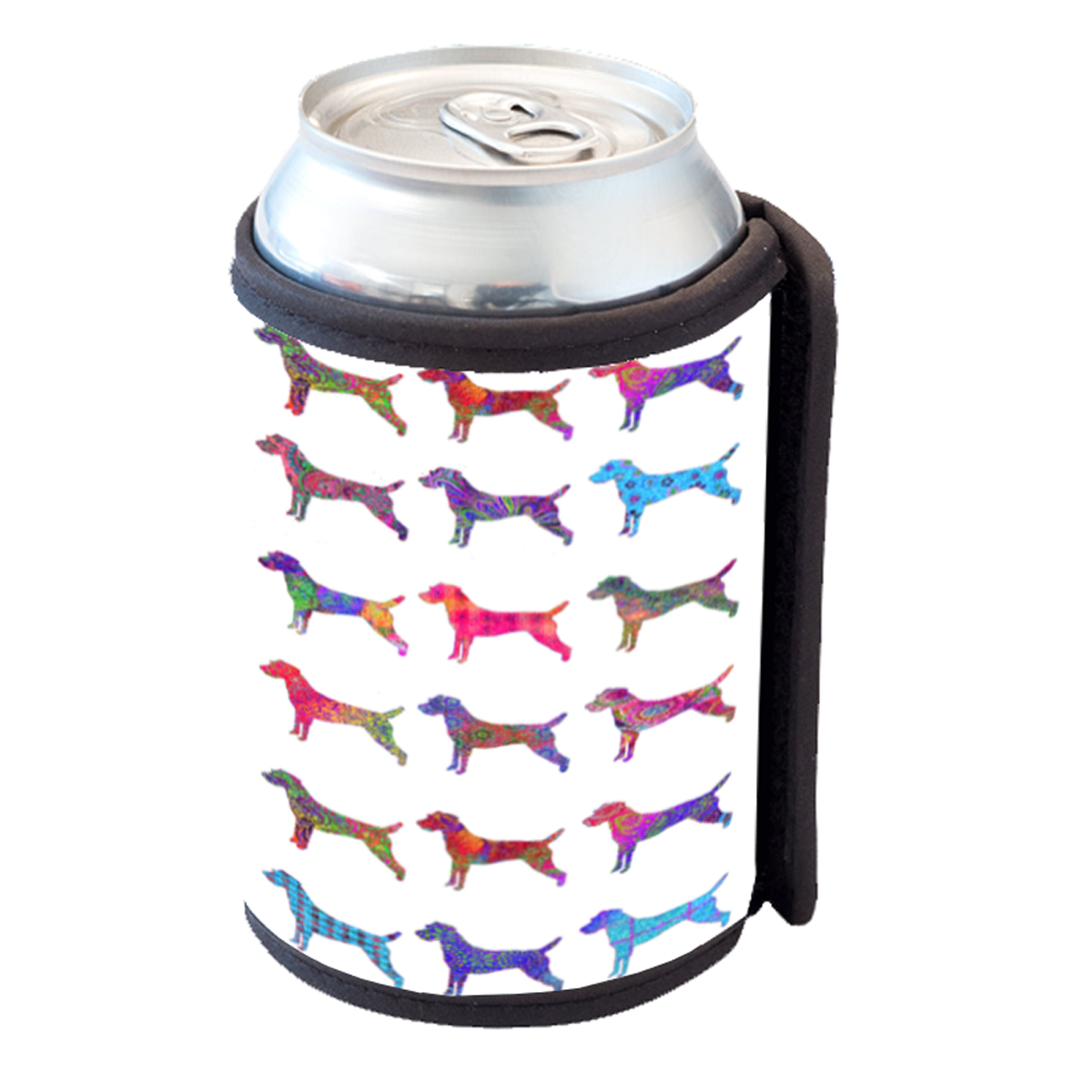 KuzmarK Insulated Drink Can Cooler Hugger - Jack Russell Dog